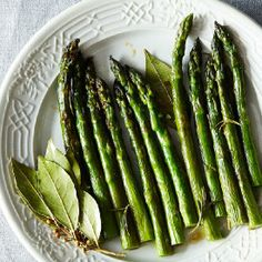 Patricia Wells' Asparagus Roasted with Fresh Rosemary and Bay Leaves on Food52.