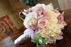 blush with orchids Ivory Roses, Cymbidium Orchids, Flower Bouquet Wedding, Hydrangea, Flower Power, Floral Design, Plants, Blossoms, Blush