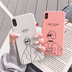 Cute Leon Matilda Phone Case For iPhone 6 6S 7 8 Plus Case Silicone So – elegantonlinemarket