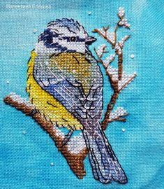 """Finished work by pattern """"Blue Tit"""" #sa_stitch #sa_pattern #pattern #crossstitch"""