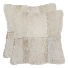 Angora Pillow in Ivory (Set of 2) from the Breezy Bedroom event at Joss and Main!