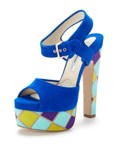 Karin Suede Platform Sandal from Designer Shoes Feat. Brian Atwood on Gilt