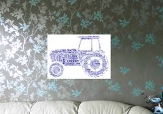 Tractor Personalised Child/Adult A4 Word Art Print, FREE UK P&P. Nursery wall art, Special Art Gift, - pinned by pin4etsy.com