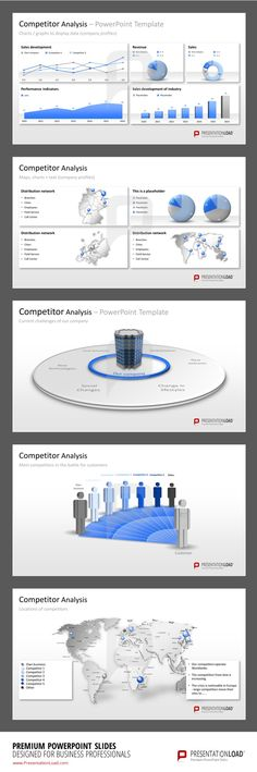 Market \ competitor analysis template in PPT Marketing - marketing competitor analysis template