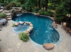 Maryland Pools, Inc. - Sophisticated Inground Swimming Pool Design and Construction Hot Tub Backyard, Backyard Pool Landscaping, Swimming Pools Backyard, Backyard Retreat, Lap Pools, Pool Decks, Indoor Pools, Backyard Ideas, Backyard Shade