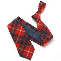 High Street Flannel Plaid & Selvedge Necktie