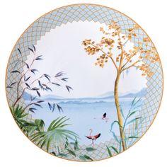 Bernardaud - Tropiques #bernardaud #porcelaine #porcelain #tableware #tablesetting #tablescape