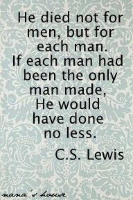 For Me . . . !  CS Lewis