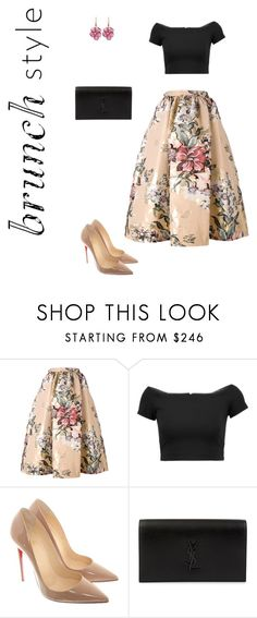 """Untitled #4"" by latviandancer on Polyvore featuring Fendi, Alice + Olivia, Christian Louboutin, Yves Saint Laurent and Rina Limor"