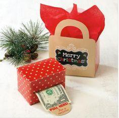 Kraft Money Dispenser & Gift Bag Set
