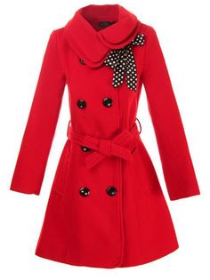 Add this turn-down conventional winter jacket to your winter collection. It is a double collar and double-breasted designed. Elegant and fashionable. With it's scarf and belt that amazingly add the lo