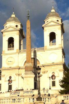 Trinita Dei Monti Church in Rome (above the Spanish Steps)