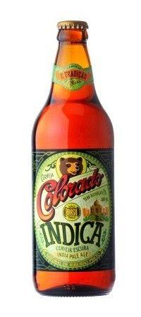 Cerveja Colorado Indica, estilo India Pale Ale (IPA), produzida por Cervejaria Colorado, Brasil. 7% ABV de álcool.