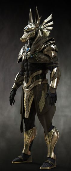 Would make GREAT Costume - Anubis. Would make GREAT Costume -You can find Museums and more on our website. Would make GREAT Cos. Fantasy Armor, Dark Fantasy Art, Sci Fi Fantasy, Egypt Concept Art, Anubis Tattoo, Egypt Art, Egyptian Mythology, Armor Concept, Fantasy Creatures
