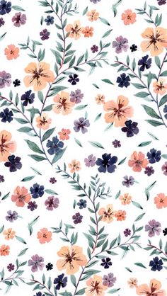 Drawing and Illustration Cute Backgrounds, Cute Wallpapers, Wallpaper Backgrounds, Kids Wallpaper, Modern Wallpaper, Nature Wallpaper, Pretty Patterns, Flower Patterns, Flower Pattern Drawing