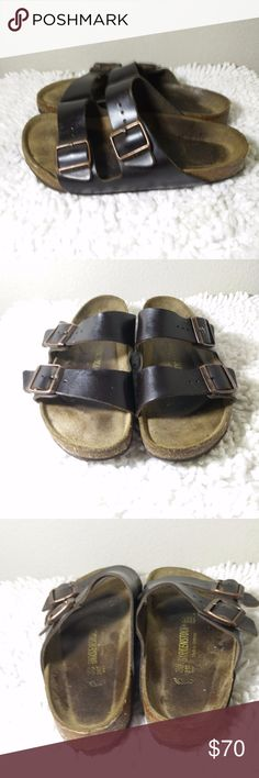 Birkenstock Arizona Sandals sz 38 / 7 [style 245] Birkenstock Arizona Sandals sz 38 [style 245]  - Great looking Sandals - some visible ware on soles but sandals are still in great overall condition... (ref#4143) Birkenstock Shoes Sandals