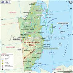 Belize Carte (#Map of #Belize)