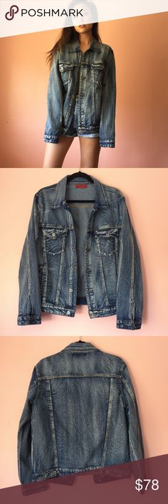 Nasty Gal Distressed Denim Oversized Jacket Throw on this easy oversized denim jacket from Nasty Gal. Features a foldover collar, button up closures, front chest and side pockets, long sleeves and oversized fit in medium distressed wash. 100% cotton. New without tags. Fits oversize. Marked size M/L. No returns allowed. Please ask all questions before buying. IG: [at] jacqueline.pak #nastygal Nasty Gal Jackets & Coats Jean Jackets