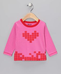 Take a look at this Red & Pink Tetris Heart Top - Infant & Toddler by Deezo on #zulily today!