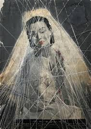 Hinke Schreuders - Schreuders depicts entrapment through the use of embroidery over vintage photographs. Using female subjects in traditional dress and poses, her work alludes to feminine vulnerability. Art Textile, Textile Artists, Illustrations, Illustration Art, Collage Art Mixed Media, Contemporary Embroidery, Thread Art, Foto Art, Embroidery Art