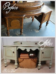 One Girl In Pink: Ten Projects.One Can of Chalk Paint(R) decorative paint by Annie Sloan! Chalk Paint Furniture, My Furniture, Refurbished Furniture, Repurposed Furniture, Furniture Projects, Furniture Makeover, Vintage Furniture, Furniture Refinishing, Diy Projects