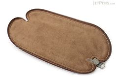 Zip Wrap Leather Pencil Case - Twist Model - Dark Brown - ZW00277F