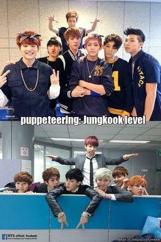 BTS Jungkook puppeteering level expert