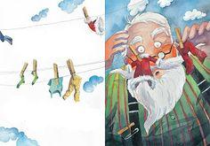 """Χριστουγεννιάτικο Θεατρικό """"Η μπουγάδα του Άι-Βασίλη"""" - Kinderella Christmas Crafts, Xmas, Classroom Organisation, Winter Activities, Painting, Theatre, Greek, School, Books"""