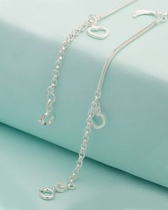 Pair Of 925 Sterling Silver Anklets Dangled With Lovely Charms