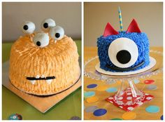 Top 5 Kids Birthday Cake Ideas - Monster Theme: Monster parties are the latest rage right now and these spooky cakes match perfectly with Pear Tree Greetings monster birthday invitations. Click here to see our kids birthday invitations: http://www.peartreegreetings.com/Kids-Cards--Kids-Invitations/Kids-Birthday-Invitations/index.cat