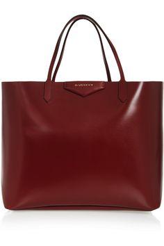 Givenchy|Large Antigona shopping bag in shiny burgundy leather|NET-A-PORTER.COM