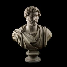 Marble bust of the emperor Hadrian wearing military dress From Hadrian's Villa, Tivoli, Lazio, Italy AD 117-118 The British Museum This portrait bust was found at the Villa Adriana, the Roman emperor Hadrian's magnificent country residence near...