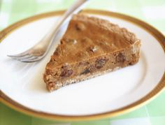 """Sour Cream"" and Raisin Tart (or Pie): a rich and delicious #dairyfree #vegan and refined #sugarfree #recipe 