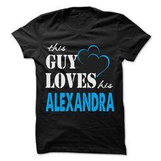 (Tshirt Best Tshirt) This Guy Love His Alexandra Funny Name Shirt Discount Hot Hoodies, Funny Tee Shirts