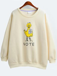 Dropped Shoulder Seam Chicken Print Sweatshirt 14.00