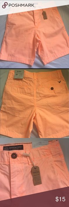 Men Shorts American Eagle Outfitter Shorts Size 28 above knee prep. Brand New with tags never used. American Eagle Outfitters Shorts Flat Front