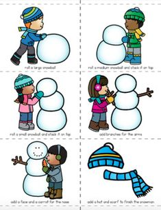 These sequencing activities provide an opportunity for students to improve their executive functioning or life skills and are great for kids with Autism, or Cognitive Impairments. Snow Activities, Social Skills Activities, Sequencing Activities, Autism Activities, Speech Therapy Activities, Language Activities, Christmas Activities, Sequencing Pictures, Sequencing Cards