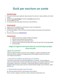 Guió per escriure un conte by Redaccions via slideshare Catalan Language, Writing Skills, Valencia, Book Worms, Teaching, Education, School, Texts, Writing
