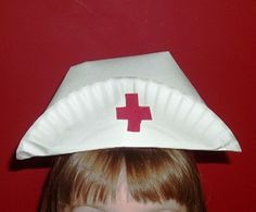 Paper plate Nurse Hat For Letter N nurse hat Make Nurse Hat From A Paper Plate : It is easy to fold the nurse hat and make the points. Preschool Classroom, In Kindergarten, Preschool Activities, Paper Plate Crafts, Paper Plates, Community Helpers Crafts, People Who Help Us, Community Workers, Nurse Hat
