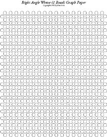 Free RAW Stitch (1 Bead) Graph Paper.  Graph Paper to create your own Right Angle Weave Designs. This is 1 bead on each side. There are more variatons and as soon as I can get to it I will create more graph paper. 23 varieties of Graph Paper on a CD or Preprinted available at: Sova-Enterprises.com
