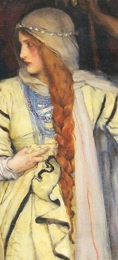 Cordelia's Farewell, King Lear, Act I, Scene I by Edwin Austin Abbey Pre Raphaelite Paintings, Dante Gabriel Rossetti, John Everett Millais, King Lear, Bring A Friend, Chivalry, Travel Alone, Traditional Art, Art Boards