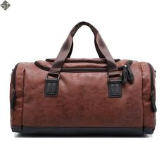 New high quality leather travel bag Men duffel bag large capacity bags with  shoulder Strap shoulder bag leahter Handbag for Male eb9bab56e2312
