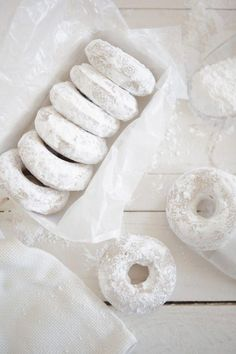 lemon oat bourbon cake doughnuts [Found by Purple Avocado]
