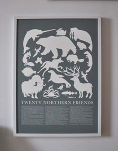 Large Print Grey Arctic Animals Poster by Banquet on Etsy, $60.00
