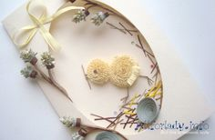 Easter card in the technique of quilling.  Master Class with photos