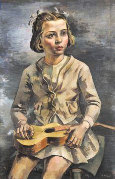 Girl with a guitar, 1938 by Antonio Berni