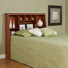 Shop for Chelsea Cherry Full/Queen Tall Slant-Back Bookcase Headboard. Get free delivery at Overstock.com - Your Online Furniture Shop! Get 5% in rewards with Club O!