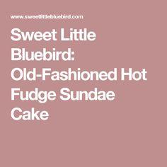 Sweet Little Bluebird: Old-Fashioned Hot Fudge Sundae Cake