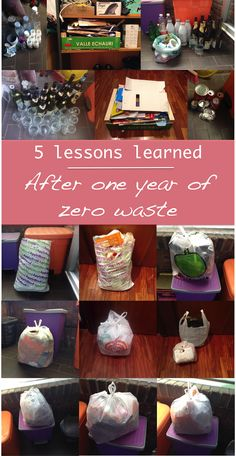 5 lessons learned in one year of zero waste