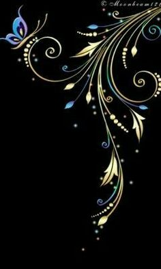 Discover thousands of images about Marcia Batoni - Artes Visuais: *Barnali Bagchi - Arabescos Butterfly Wallpaper, Wallpaper Backgrounds, Iphone Wallpaper, Fractal Art, Fractals, Stencil, Motif Floral, Cellphone Wallpaper, Line Art
